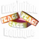 Psychedelic Peace Bracelet Silicone Wide Wristband Tie Dye Retro Hippie Chic