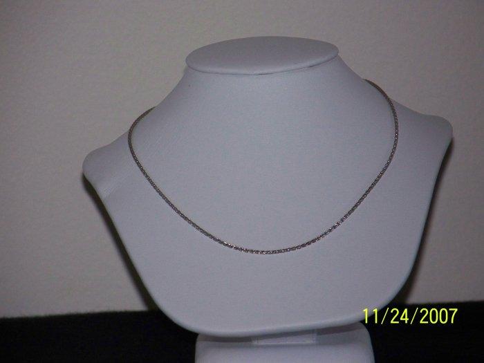 BLING!!! Platinum, 3.85g, 1.1mm, 18 Inch, Wheat Chain