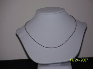 AUTHENTIC! Unisex Platinum, 4.47g, 18 Inch Wheat Chain