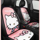 Hello Kitty Cartoon Car Seat Covers Set Universal Car Interior Pink Summer 7pcs