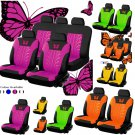 9pcs Universal Auto Seat Covers Car Truck SUV Van Polyester 8 Colors Butterfly