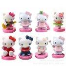 8Pcs Cute Hello Kitty Set Pvc Action Figure Kids Toys Gift Cake Decoration