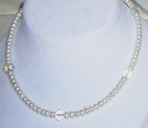 Freshwater big pearls with big Crystals