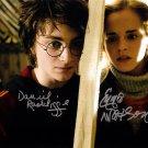 Emma Watson & Daniel Radcliffe 8 x 10 Autographed Photo Harry Potter ( Reprint 45)  FREE UK Shipping