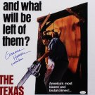 Texas Chainsaw Massacre Movie Poster Signed By Gunnar Hansen (Reprint 57) FREE UK Shipping