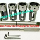 Lathe Tailstock Die Holder Set Of 4 Floating Type Mt3 Shank Holds Metric Die