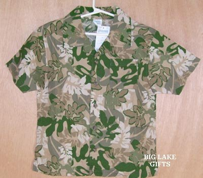 Gymboree Everglades Button Front Shirt Boys Size 5 Top NEW
