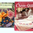 Cross-Stitch Books Lot of 2 Lawther BH&G Hard Cover