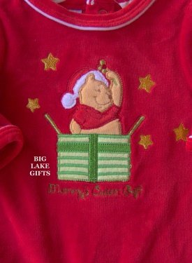Winnie The Pooh Christmas Outfit 0 - 3 Mos NWT Girl or Boy