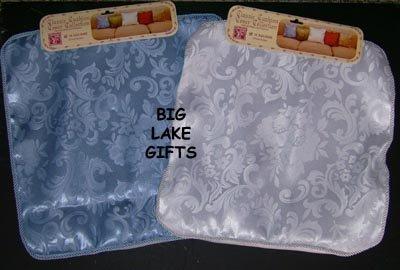 Designer Patterns Pillow Cover White & Sky Blue SET NEW