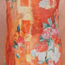 Jams World Vibrant Orange Floral Dress Size 7