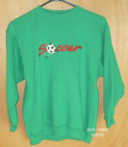 Kelly's Kids SOCCER Sweatshirt Size 10/12 NEW Top Free Shipping