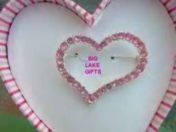 JLO J LO Pink Rhinestone Heart Pin Brooch NEW