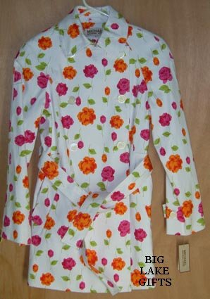 Michael Kors $129 Spring Floral Jacket Size Small S NEW