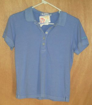 Fresh Produce Peri Blue Polo Top Size Small S NEW