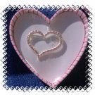 JLO J Lo Heart Brooch Pin w/ Pink Rhinestones NEW