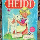 HEIDI by Johanna Spyri 1946 Hardcover Book