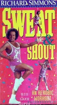 Richard Simmons Sweat & Shout Aerobic Workout Video VHS