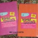 "40 Assorted Colors FOAM SHEETS 5 1/2"" x 8 1/2"" NEW"