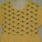 Flapdoodles Girls Yellow w/ Navy Blue Accents Dress Size 6