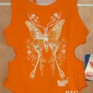 BRATZ Orange Butterfly Bathing Swim Suit Size 4 4T NEW