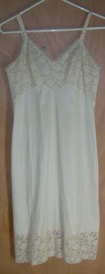Vintage Vanity Fair Gown Dress Slip Size 34 Creamy Lace