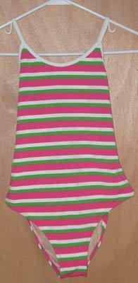 Ralph Lauren Multi Stripe Swim Bathing Suit Size 16 NEW