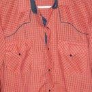 Vintage Kenny Rogers Western Shirt Pearl Snaps M 15 1/2