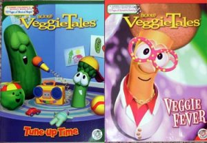 Veggie Tales Coloring & Activity Book Lot of 2 NEW
