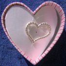 JLO J Lo Heart Brooch Pin with Clear Stones NEW