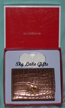 $20 Liz Claiborne Mirror Contact Lens Case Bronze NEW