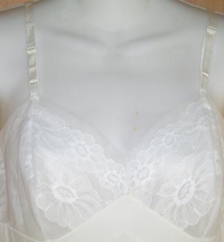 Vintage Vanity Fair White Dress Full Slip Size 34