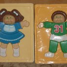 Cabbage Patch Kids 3-D Plastic Puzzles - Lot of 2