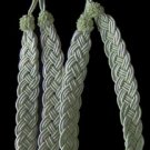 Seafoam Pastel Green Braided Curtain Tie-Backs NEW