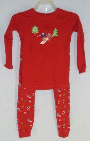Baby Gap Red Winter PJ's Pajamas 2pc Size 3 Years 3T