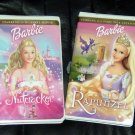 Barbie VHS Movies Nutcracker & Rapunzel Video Lot
