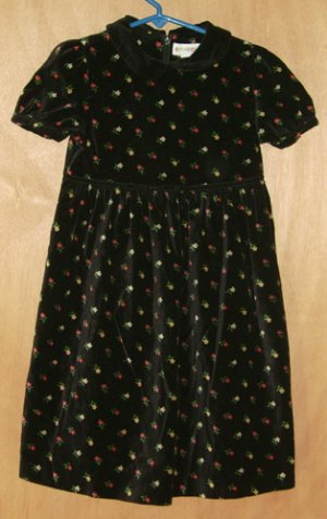Gymboree Classic Black Floral Dress L Large 4 - 5 Years Free Shipping