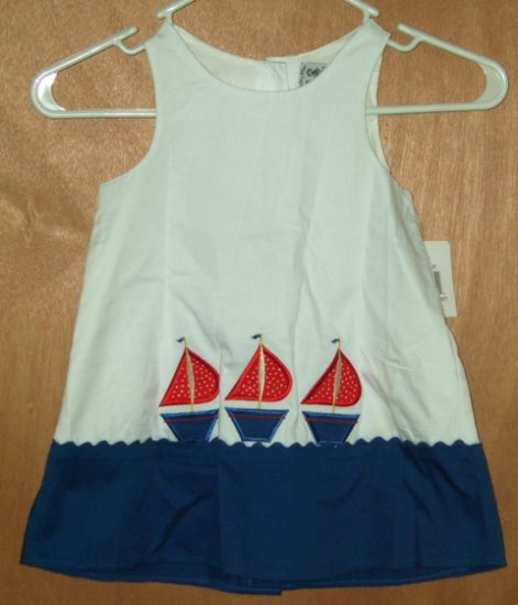 Austin & Ashley Boutique Sailboat Swing Top Dress Size 4T NEW Free Shipping