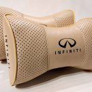 Car Rest 2pcs Neck Support Headrest Cushion Leather with Logo Infiniti