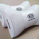 Headrest 2pcs Pillow Cushion PU Leather Breathable Pilow with Logo KIA Motors