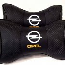 2 Auto Pillow Headrest NeckRest Comfortable Cushion Pad with Logo Opel