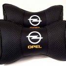 2 Auto Pillow Headrest NeckRest Comfortable Cushion Pad with Logo Opel