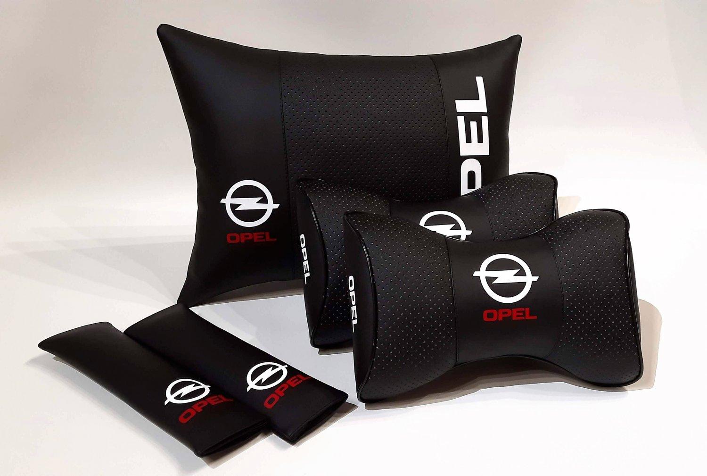 Auto Pillow 5units Headrest Back Rest Set Logo Opel Car Full Cover