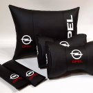 Auto Pillow 5units Headrest Back Rest Set Logo Opel Car Full Cover