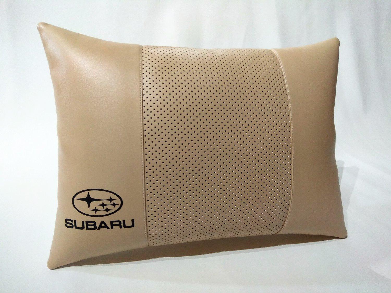 Auto Pillow Headrest Cushions Pad Logo Subaru Back Rest Support Othopedic