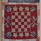 Patriotic Checkers - Polly Minick Rug Hooking Paper Pattern