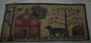DOG HOUSE - Primitive Rug Hooking Pattern