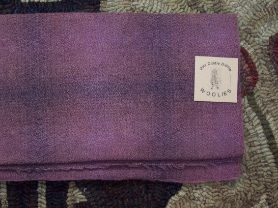PLUM Delicious- Hand DYED WOOL Rug Hooking Quilting Applique