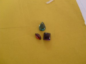 Blue Tourmaline, Amethyst, and Garnet Cabs 5 ct. total