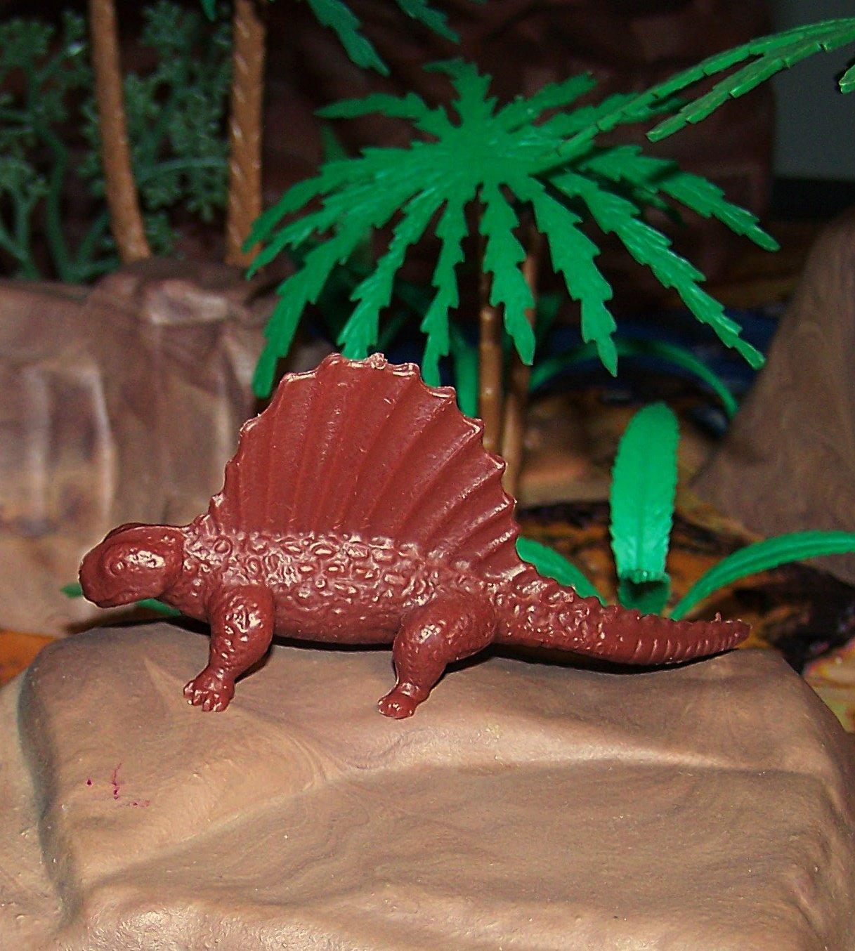 Marx Type III (1959/1971*) Dimetrodon Reptile Dinosaur Waxy Chocolate Brown (5-22-21)